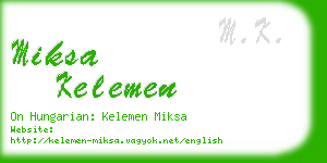 miksa kelemen business card